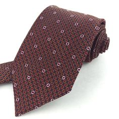 GIANFRANCO FERRE Italy 56 Short Classic Burgundy Pink Polka Dot Silk Neck Tie #GianfrancoFerre  | Men's Fashion & Style | Shop Menswear, Men's Clothes, Men's Apparel & Accessories at designerclothingf... | Find Sport Coats, Blazers, Suits, Shirts, Polos, Pants/Trousers and More...