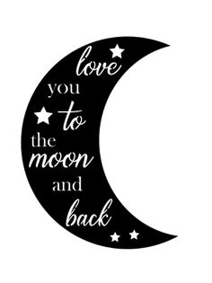 Download I Love You To The Moon And Back Cutting File in SVG, EPS ...