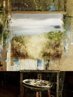 The studio of Cornish Landscape Artist Amanda Hoskins | Photo by Andrew Montgomery