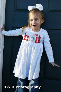 90435d21d9b Valentines Dress Personalized with Name - You Choose Dress Color and Sleeve  Length