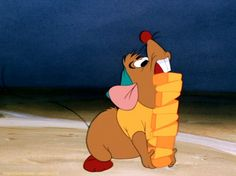 every time i have to carry a stack of things, I am Gus Gus in my head.