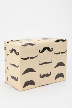 Mustache Wrapping Paper #holiday