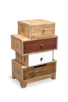 Mellal 4 Drawer Chest World Menagerie Finish: Light Mango Wood Vintage Bedroom Furniture, Small Furniture, Solid Wood Furniture, Furniture Making, Furniture Storage, Low Dresser, 4 Drawer Dresser, Dressers, Dresser