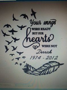 Memorial decal. In memory car decal. Wings by Cadyshomecreations