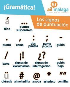 Vocabulaire et vocabulaire espagnol: les signes de ponctuation! Spanish Lessons For Kids, Spanish Basics, Study Spanish, Ap Spanish, Spanish Grammar, Spanish Vocabulary, Spanish Activities, Spanish Words, Spanish Language Learning