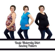 Maternity Shirt Pattern | Basic Maternity Top | YouCanMakeThis.com