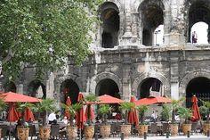 Nimes , France- we enjoyed Coke- Light and ice cream here numerous times...