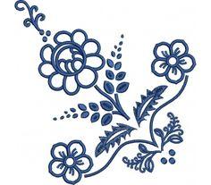Výšivka Habáni-šatka, 19x19 cm