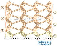 Cómo tejer el punto fantasía en crochet con piñas