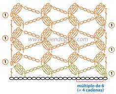 Crochet Pinneapple Stitch - Chart ❥ 4U // hf