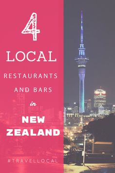 Get local on your trip to Auckland, New Zealand by hanging out at these four restaurants and bars.