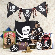 Pirate Birthday Party SVG Kit for the August party Tiki Party, Pirate Party, Pirate Theme, Pirate Birthday, 4th Birthday, Birthday Ideas, Party Kit, Party Ideas, Card Envelopes