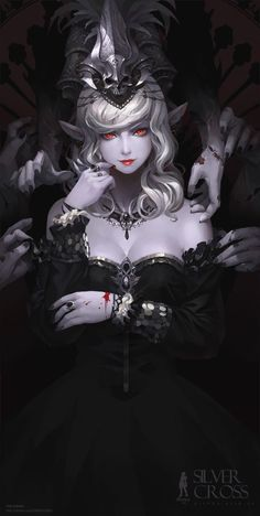 Black/Silver Blood'Vampy