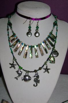 ABALONE Discount SALE.  Three Necklaces one FREE by MyGrandmasHome