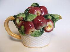 Vintage Basket Of Apples Teapot by MidnightandMagnolias on Etsy, $16.00