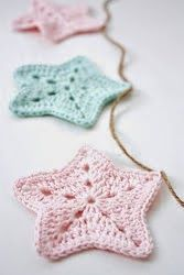 45 Ideas for crochet christmas star free pattern garlands