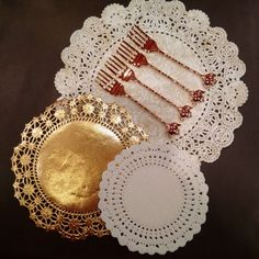 Gold doilies to add a touch of luxury to your table setting.‪#‎doilies‬ ‪#‎afternoontea‬ ‪#‎teaparties‬ ‪#‎vintage‬ ‪#‎shabbychic‬ ‪#‎gold‬ ‪#‎dessertforks‬ ‪#‎hightea‬ ‪#‎pastries‬ ‪#‎desserts‬ ‪#‎sweets‬ ‪#‎luxury‬ ‪#‎inspire‬ ‪#‎redletterstore‬ ‪#‎whimsy‬