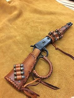 Leather Gunstock /forearm Cover/Shell HolderFor Henry Mares Leg Rossi Ranch Hand
