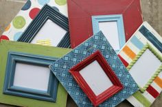 Madras Wood Distressed Picture Frames Grouping/ by deltagirlframes, $255.00