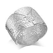 Style&co. Silver-Tone Cutout Stretch Bracelet