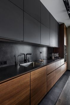 Best kitchen designs this year. Are you looking for inspiration for your home kitchen design? Take a look at the kitchen design ideas here. There is a modern, rustic, fancy kitchen design, etc. Modern Kitchen Interiors, Modern Kitchen Cabinets, Home Decor Kitchen, Interior Design Kitchen, New Kitchen, Kitchen Ideas, Kitchen Modern, Kitchen Wood, Kitchen Industrial