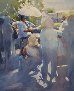 Untitled    by Sarah Yeoman   Watercolor.  Wow  -  I love the way the focal point is developed!