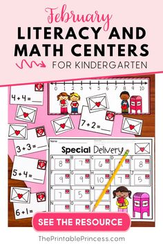 This literacy and math centers pack is perfect for Kindergarteners during the month of February!  Centers include recording sheets to hold students accountable for their work, promote independence, and follow-up print-and-go activities/worksheets to reinforce the skills covered in this packet. Themes included in this packet are: Groundhog Day, Valentine's Day, President's Day and American symbols, Dental Health, bees and flowers, bubble gum, cookies, and bears.