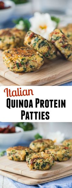 Italian Quinoa Protein Patties- less than 80 calories each and low carb!