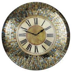Amber Mosaic Clock   Pier 1 Imports