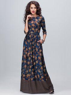 Navy blue bridesmade dress- Wedding dress- Work dress-Maxi dress