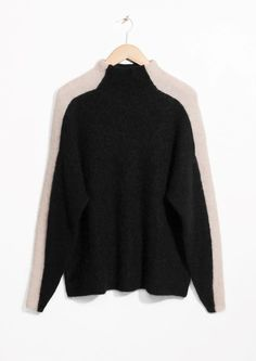 & Other Stories image 1 of Contrasting Racer Stripe Sweater  in Black