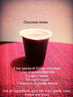 Chocolate limber My Recipes, Low Carb Recipes, Sweet Recipes, Dessert Recipes, Cold Desserts, Just Desserts, Delicious Desserts, Comida Boricua, Boricua Recipes