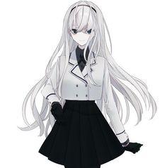 Evridiki Panayi Sweet, Slowly Descending into Madness Anime Neko, Kawaii Anime Girl, Pretty Anime Girl, Cool Anime Girl, Beautiful Anime Girl, Manga Anime Girl, Anime Girl Drawings, Anime Girls, Vestidos Anime