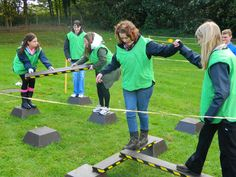 Outdoor Team Building Activities Boldly Go This outdoor team building event is a series of physical and cerebral team challenges and tasks based around the construction of a fully working team roc…