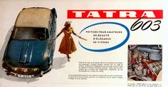 1959 brochure for the fabulous Tatra an aircooled super saloon from Czechoslovakia. This is page 2 Advertising Sales, Old Signs, Press Photo, Logs, Old Cars, Vintage Cars, Classic Cars, Automobile, Home Appliances