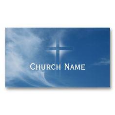 Bridgeview church of christ business cards design pinterest blue sky holy cross light church business card colourmoves