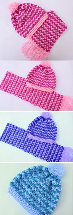 Crochet Easy and Fast Scarf and Hat – Design Birdy