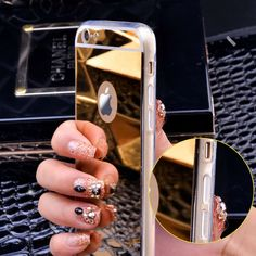 Rose gold Luxury Mirror Flash Fashion Case For iPhone 7 6 Plus SE Soft Clear TPU Cover For iPhone 6 7 Brand Name:Lifone Compatible iPhone Model:iPho Iphone 7 Plus, Iphone 4, Iphone 5s Covers, Luxury Mirror, Bling, Apple Iphone 5, Iphone Accessories, Gold Accessories, Iphone Models