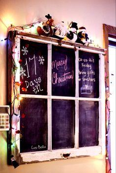 Old Window Chalkboards