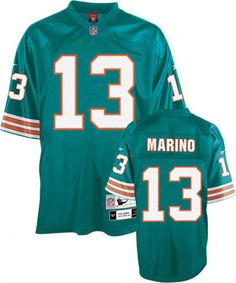 Dan Marino Reebok NFL Aqua Premier 1982 Throwback Miami Dolphins Jersey.  (Check with Jackie on size)  Currently $135 at shop.dolphins.com as of 10-22-11