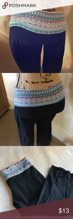 Cute Capri Leggins Very flattering with the fun adjustable waistband, sized small, fits more like a med? Mossimo Supply Co Pants Leggings