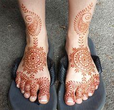 Top 50 Foot Henna Designs