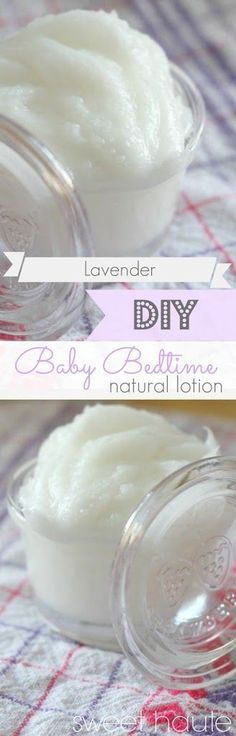 DIY Baby Bedtime Lotion with Lavender Essential Oil, all natural and organic for your little one! Make your own and have an excellent transition to bedtime.