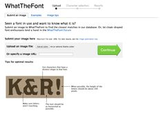 What the Font?!    http://detepe.sk/what-the-font/