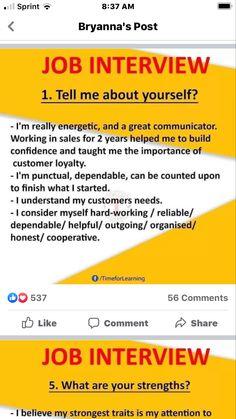 Job Interview Answers, Job Interview Preparation, Interview Advice, Interview Skills, Job Interview Tips, Job Resume, Resume Tips, Resume Examples, Resume Skills List