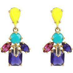 Kate Spade New York Kaleidoscope Floral Drop Earrings ($78) ❤ liked on Polyvore