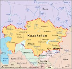 Kazakhstan is the 9th largest country in the world and the largest landlocked country in the world. It is also one of the 5 countries that lies in both Europe and Asia
