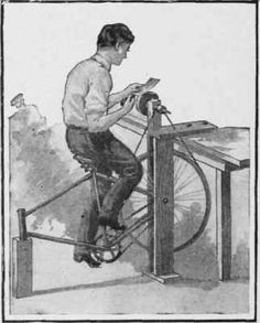 A simple foot power grinder. There have been many versions of this concept through the years, but if you're thinking out of the box or indeed, off the grid, maybe?