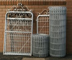 wire and wood fence gate | WOVEN WIRE 110CM HIGH GALVANISED