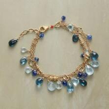 This stunning Thoi Vo blue gemstone teardrop bracelet leaves nothing wanting.
